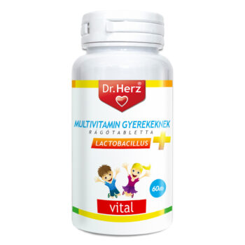 Dr. Herz gyerek multivitamin + D3-vitamin - 60db