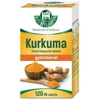 Herbária kurkuma tabletta - 120db