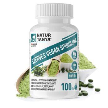 Natur Tanya Szerves Spirulina tabletta - 100db