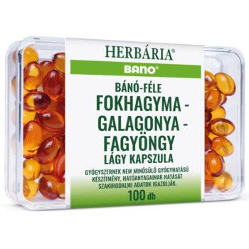 Herbária Bánó-féle fokhagyma-galagonya-fagyöngy kapszula - 100db