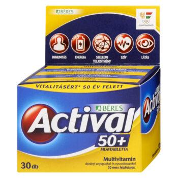 Béres Actival 50+ tabletta - 30db filmtabletta