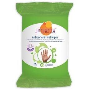 JimJams mini nedves fertőtlenítő kendő - 10 db