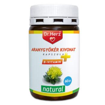 Dr. Herz Aranygyökér + B-vitamin kapszula - 60db