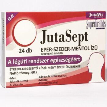 Jutavit Jutasept eper-szeder-mentol ízű szopogató tabletta - 24db