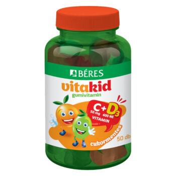 Béres VitaKid C-vitamin + D3-vitamin gumivitamin – 50db