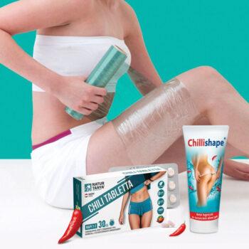Natur Tanya Chillishape gél + Lélegző testtekercselő fólia + Chilliburner tabletta 30db