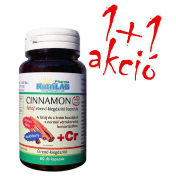 Nutrilab Cinnamon fahéj + króm kapszula 1+1 akció