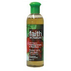 Faith in Nature Bio Gránátalma és Rooibos tusfürdő - 250ml