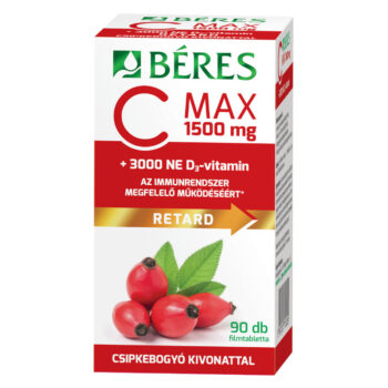Béres C MAX RETARD C-vitamin 1500mg + D-vitamin 3000NE filmtabletta – 90db