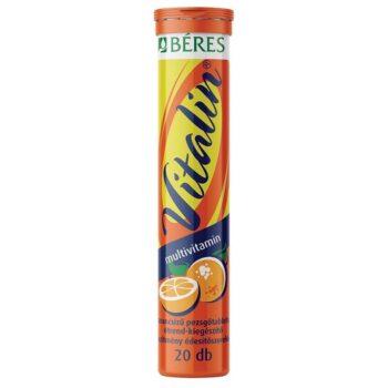 Béres Vitalin Multivitamin narancs ízű pezsgőtabletta - 20db