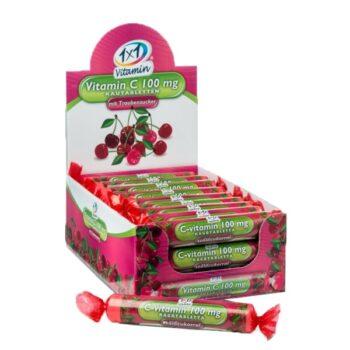 1x1 Vitamin C-vitamin 100mg szőlőcukor cseresznye ízben - 17db