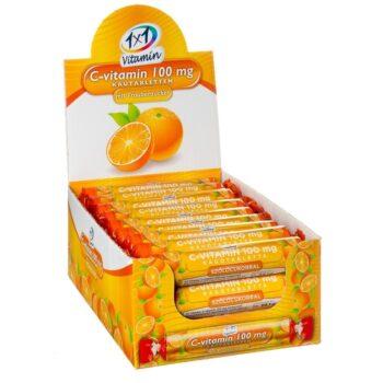 1x1 Vitamin C-vitamin narancsos szőlőcukor rágótabletta - 17db