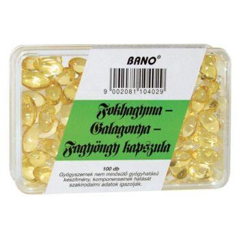 Bánó fokhagyma-galagonya-fagyöngy kapszula - 100 db