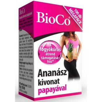 BioCo Ananász kivonat papayával Megapack - 100db
