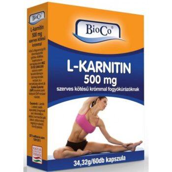BioCo L-Karnitin 500mg kapszula - 60db