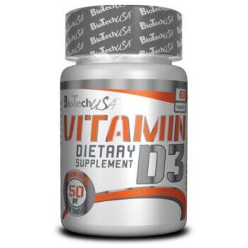 BioTech USA D3-vitamin 50mcg tabletta - 60db