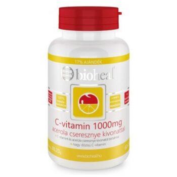 Bioheal C-vitamin 1000mg acerola cseresznye kivonattal filmtabletta - 70db