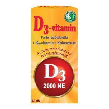 Dr. Chen D3-vitamin Forte rágótabletta - 60db