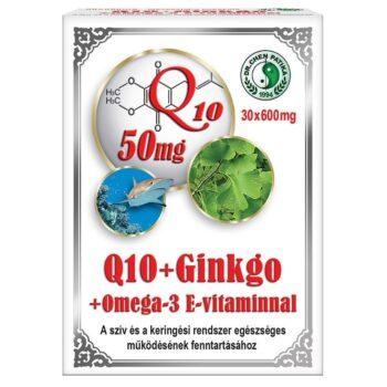 Dr. Chen Q10 + Ginkgo Biloba + Omega-3 kapszula - 30 db