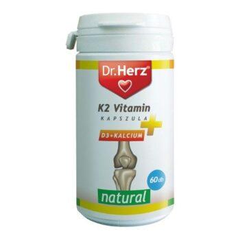 Dr. Herz K2 + D3 + Kalcium kapszula - 60db