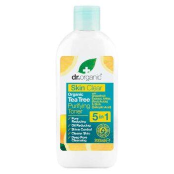 Dr. Organic Skin Clear Pórustisztító 5 az 1-ben arctonik - 200ml
