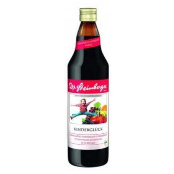 Dr. Steinberger BIO kinderglück vasban gazdag gyümölcslé - 750ml