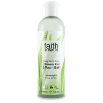 Faith in Nature Fragrance Free - illatmentes  tusfürdő - 400ml
