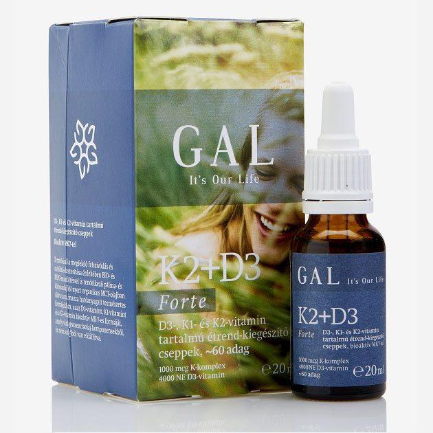 GAL K2 + D3-vitamin forte cseppek - 20ml