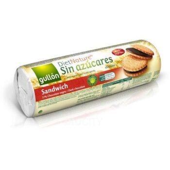 Gullón keksz étcsokoládés krémmel töltött édesítőszeres - 250g