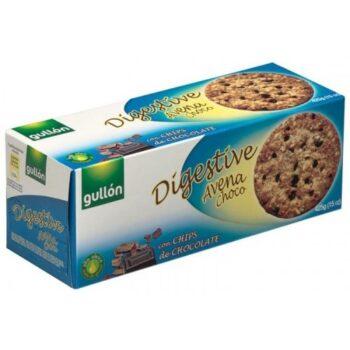 Gullón Digestiv zabpelyhes korpás keksz étcsokoládéval - 425g