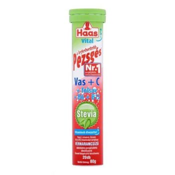 Haas Stevia Vas + C-vitamin pezsgőtabletta - 20db