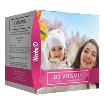 Herba-D D3-vitamin 2000NE csepp (90 napi adag) - 20ml