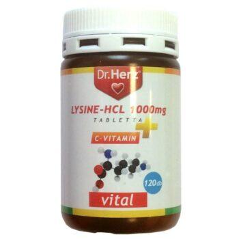Dr. Herz Lysine + C-vitamin tabletta - 120db