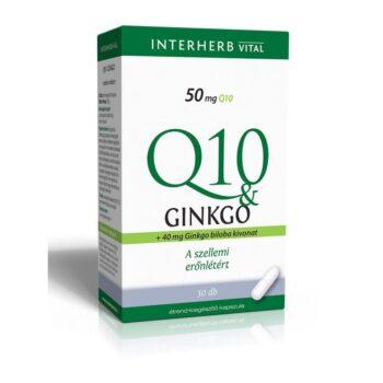 Interherb Q10 és Ginkgo extraktum - 30db