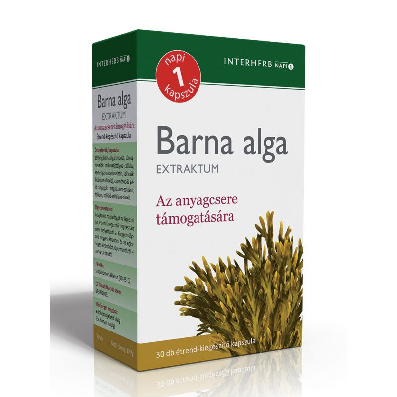 Interherb Napi 1 Barna alga Extraktum kapszula - 30db
