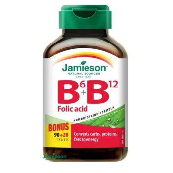 Jamieson B6+B12+Folsav tabletta - 90+20db