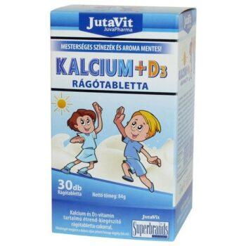 Jutavit Kalcium-D3-vitamin rágótabletta gyerekeknek - 30db