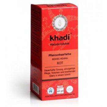 Khadi Hajfesték por Élénkvörös - 100% Henna-tartalommal - 100 g