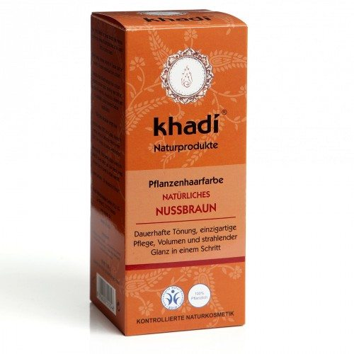 Khadi Hajfesték por - Mogyoróbarna - 100 g