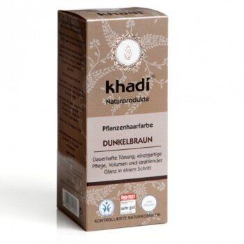 Khadi Hajfesték por - Sötétbarna - 100 g