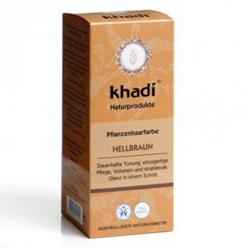 Khadi Hajfesték por - Világosbarna - 100 g