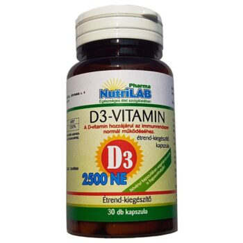 Nutrilab D3-Vitamin 2500NE kapszula - 30db