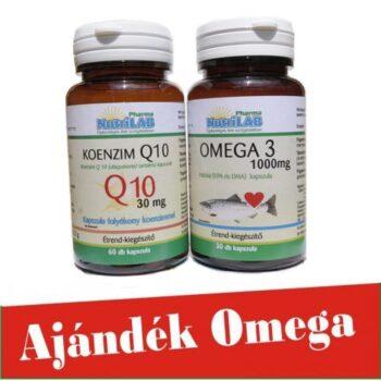 Nutrilab Q10 koenzim kapszula 60db + Omega3 halolaj kapszula