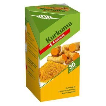 OCSO Kurkuma+E-vitamin kapszula - 90db