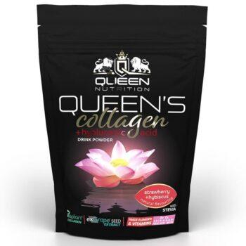 Queen Nutrition Queen's Collagen + Hyaluron italpor eper-hibiszkusz - 320g