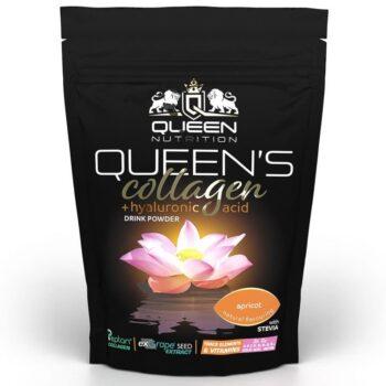 Queen Nutrition Queen's Collagen + Hyaluron italpor sárgabarack - 320g