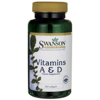 Swanson A-vitamin és D-vitamin halolajból - 250 db