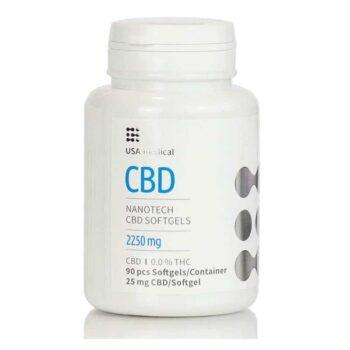 USA Medical CBD 2250mg kapszula - 90db