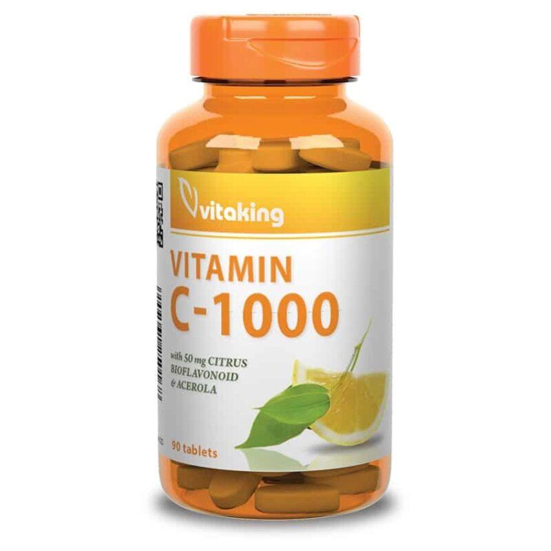 Vitaking C-vitamin 1000mg tabletta - 90db