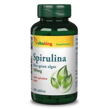 Vitaking 100% Spirulina alga tabletta - 200 db